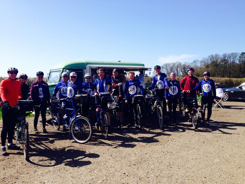 Cyclists at Ranmore