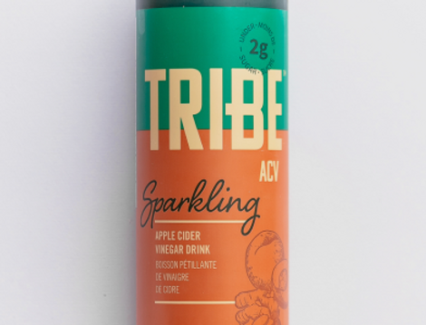 TRIBEACV™ Apple Cider Vinegar Turmeric Ginger Peach Sparkling 355ml/12 PACK