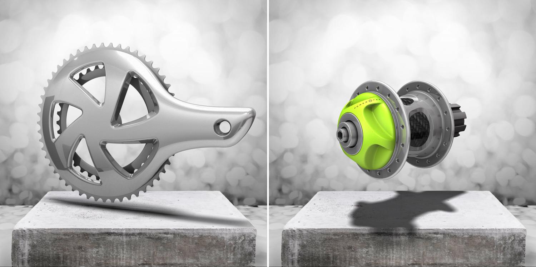 PowerTap hub.  Crank concept.