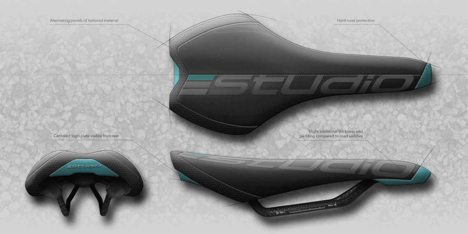 Gravel bike saddle concept