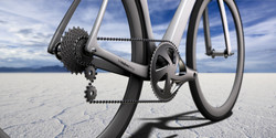 Road bike frame detail