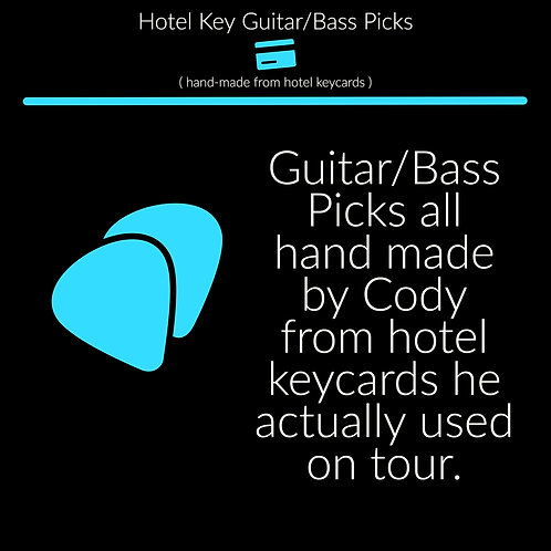 Hotel Key Guitar/Bass Picks