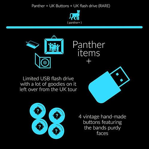 Panther + 4 classic Buttons + UK usb drive (RARE)