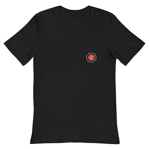 LOOK'S PIZZA Unisex Pocket T-Shirt