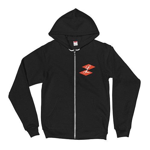 """LOOK""""S logo zip up Hoodie"""