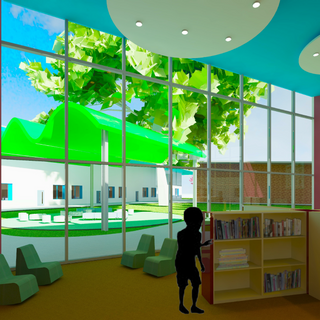 Library View Facing Outdoor Learning Space
