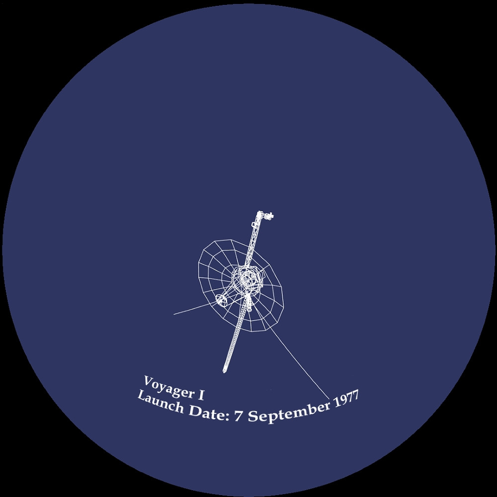 Voyager.vla model on blue background with label