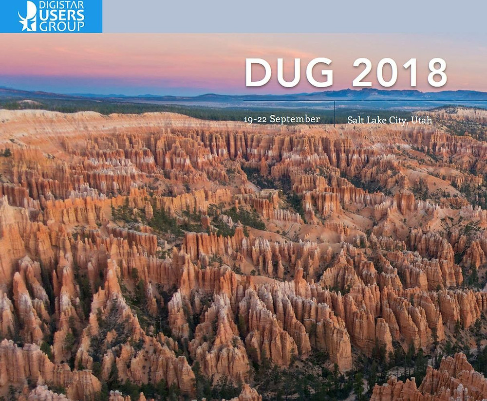 screen shot of DUG 2018 website