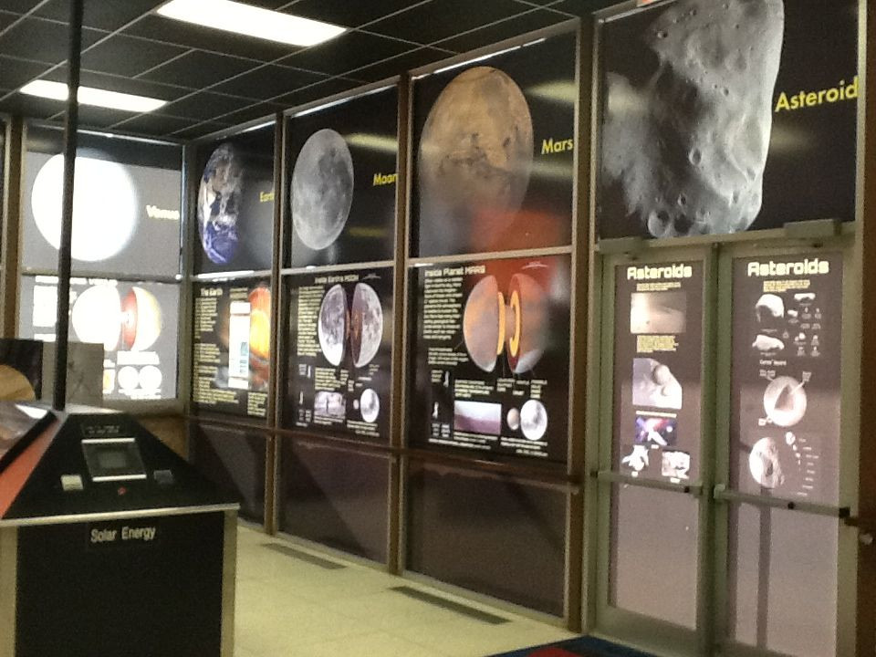 Exhibits inside the Roddenberry building