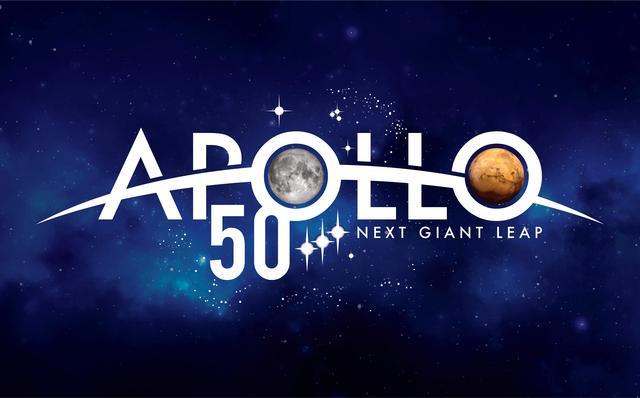 Apollo 50 Next Giant Leap logo