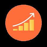 Stigande graf symbol affärsutveckling