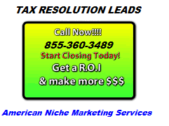 Live Transfer Tax Settlement Leads, Tax Leads, Tax Settlement Leads.