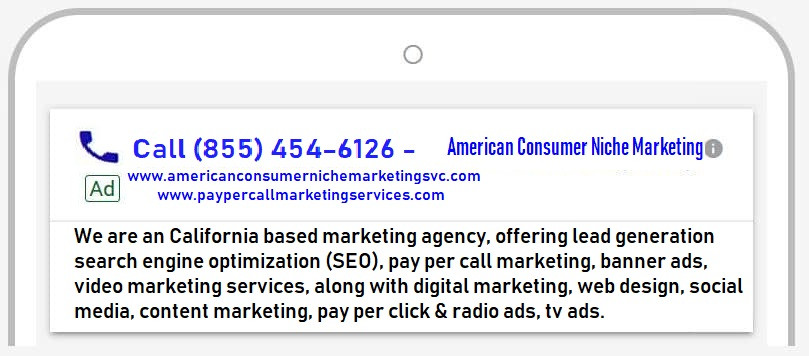 Pay Per Call Marketing