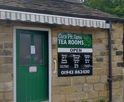 Cock Pit Farm Tea Rooms entrance