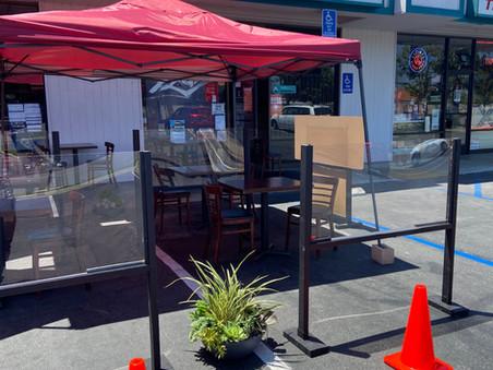 Our Outside table setup