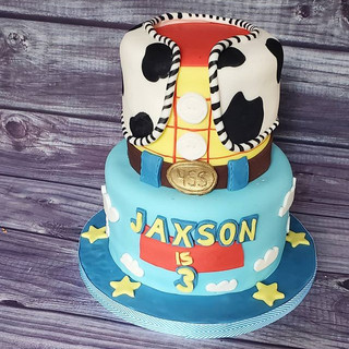 Toy story themed cake for Jaxson's 3rd b