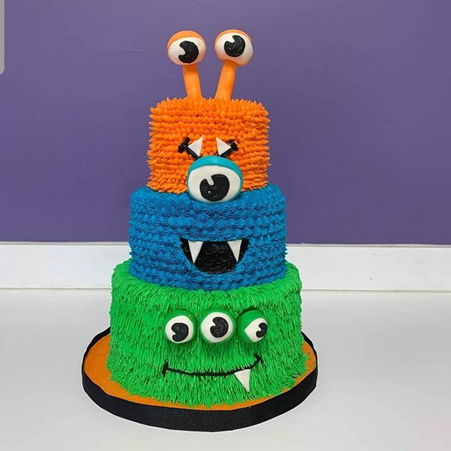Photo sent by my client! _#Monstercake #