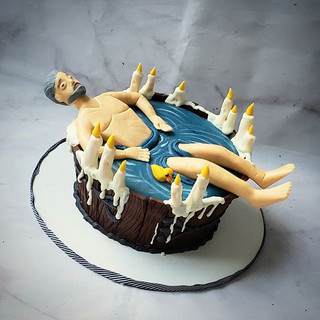 This was an interesting cake to make! Ch