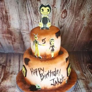 Bendy & the Ink Machine Cake! ._._._..jp
