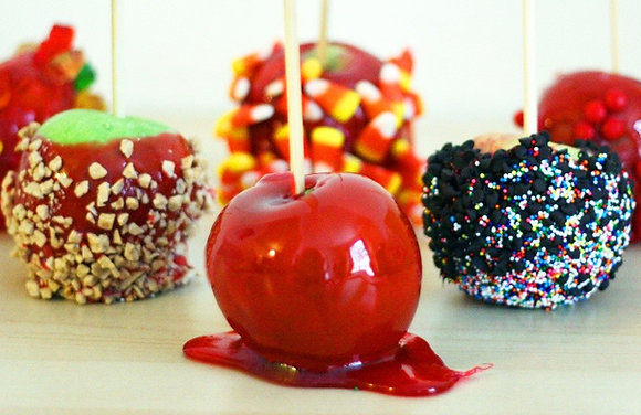 Candied, Caramel, and Chocolate Apples