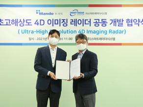 Mando-SRS signed joint-development contract <UHR 4D Imaging Radar>