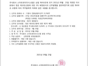 Announcement of Share Increase by 3rd party allocation  - 3자 배정 유상증자 공고