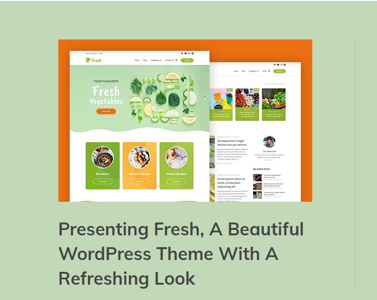 انشاء مدونة طعام صحي