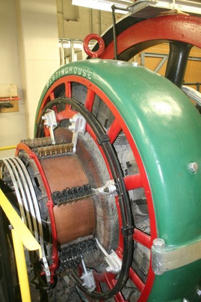 Close up of alternator.