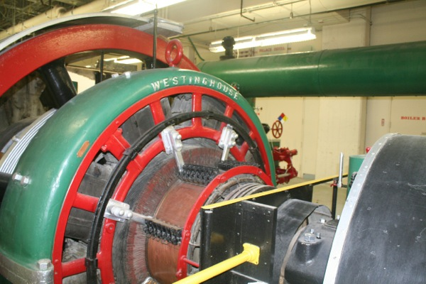 Closeup of Westinghouse DC generator