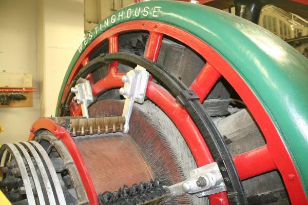 Westinghouse DC generator detail.