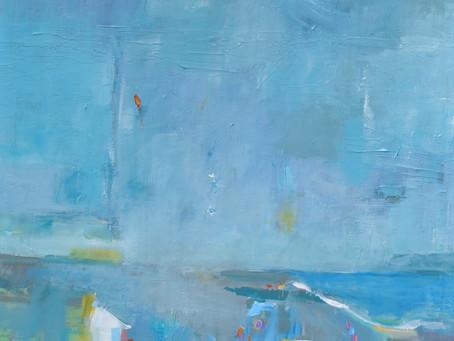 "New Painting for Mediterranean Series: ""Cielos y Playas"""