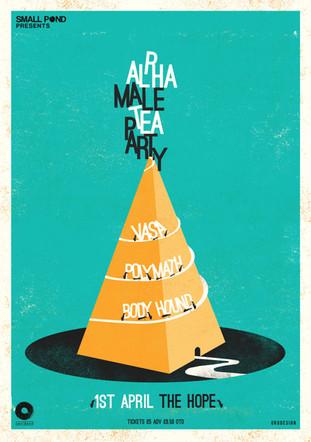 Alpha male tea party, Vasa, Polymath, Body hound @ The Hope