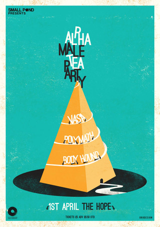 Alpha male tea party, Vasa, Polymath, Body hound @ The Hope
