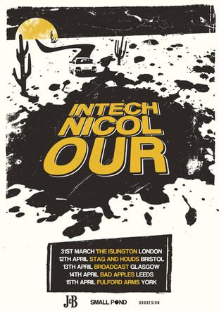Intechnicolour tour poster