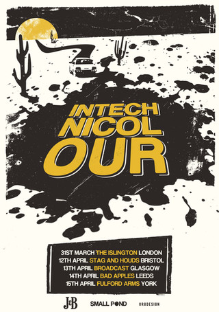 Intechnicolour tour poster