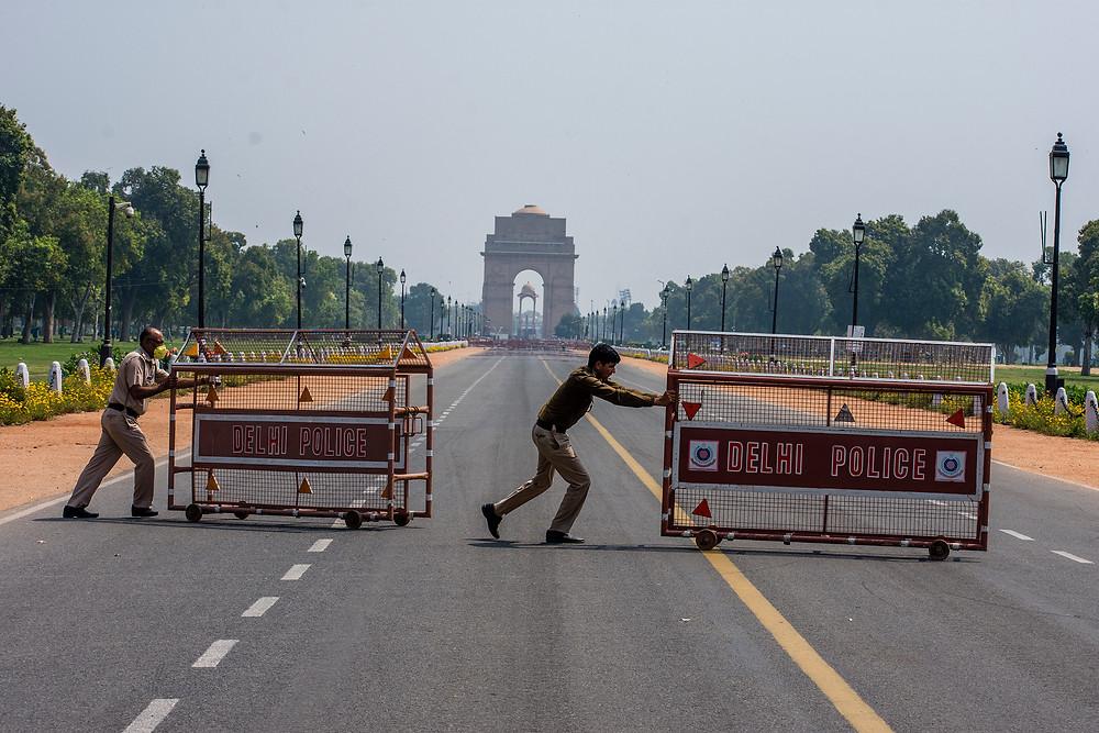 Lockdown in Delhi India