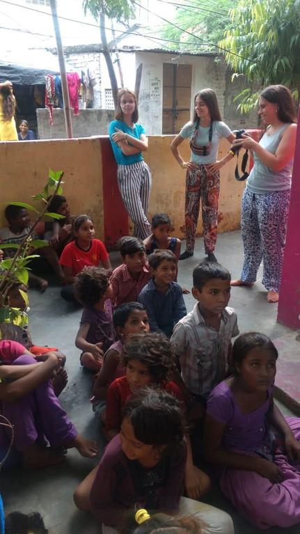 International volunteers in Rajasthan