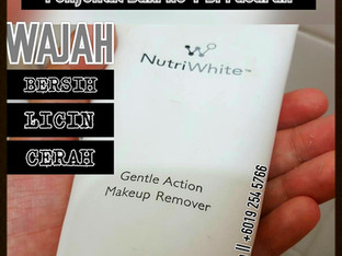 Nutriwhite Gentle Action Makeup Remover - Tak Makeup Pun Boleh Guna..