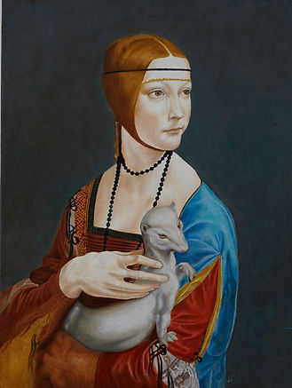 0111 o31 Frau mit Hermelin Doku