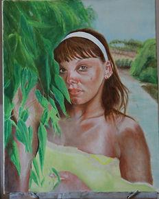 Portrati painting by Stan Bert Singer titel:Vica Zakynthos.jpg