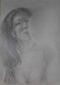 Pencil drawing by Stan Bert Singer, Titel: Nelli