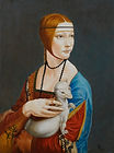 Lady with the Ermine Example for Sfumato Technique by Stan Bert Singer
