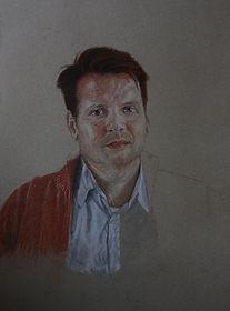 Commission a portrait or commission a painting or commission a replica Portrait Drawing by Stan Bert Singer. Color pencils on cartonage