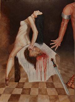 Salome - John I am only dancing Oil on Woodpanel by Stan Bert Singer 2016