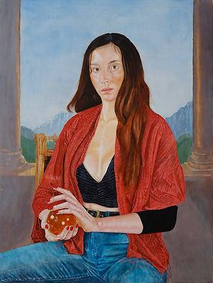 Example Portrait Commission Stan Bert Singer La affascinante 60 x80 cm Stàn Bert Singer 2021