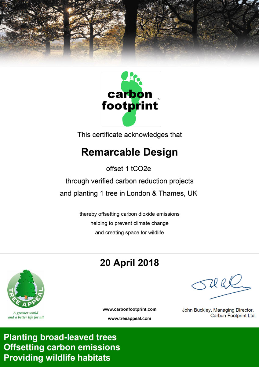 Carbon Footprint certificate