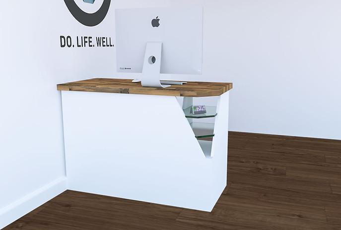 bespoke doctors desk design render