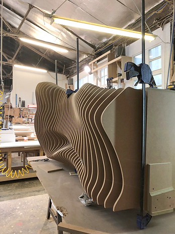 bespoke furniture construction progress