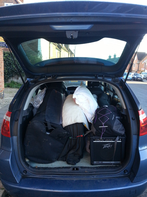 Car all packed up!!!