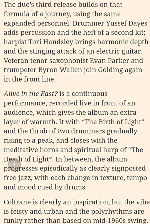 """""""Tori Handsley brings the stinging attack of an electric guitar""""...FT"""